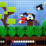 Nintendo's Duck Hunt, a lo Lego.