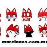 Emoticones de Pyong el Zorro Rojo para el Messenger