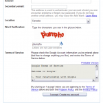 Gmail Captcha obsceno