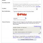 Gmail Captcha obsceno