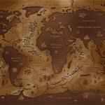 Mapa mundial invertido.