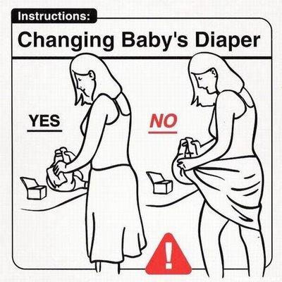 limpiando al bebe
