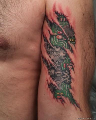 robocop tattoo