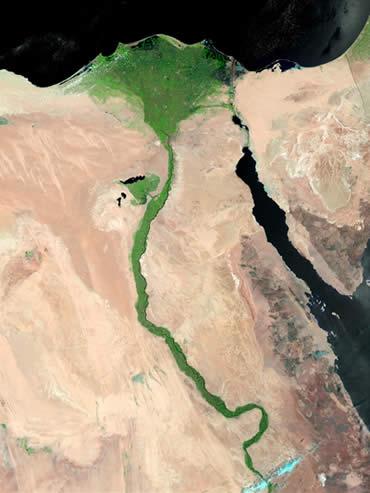 En Nilo en Egipto