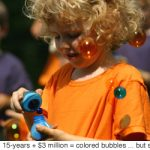 Perfeccionan las burbujas de colores.