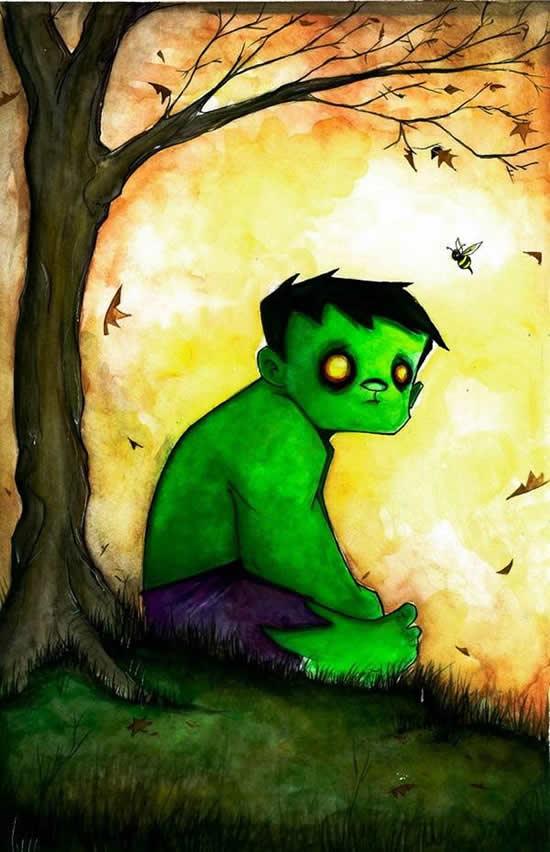 dibujos de superhéroes Extraños (11)