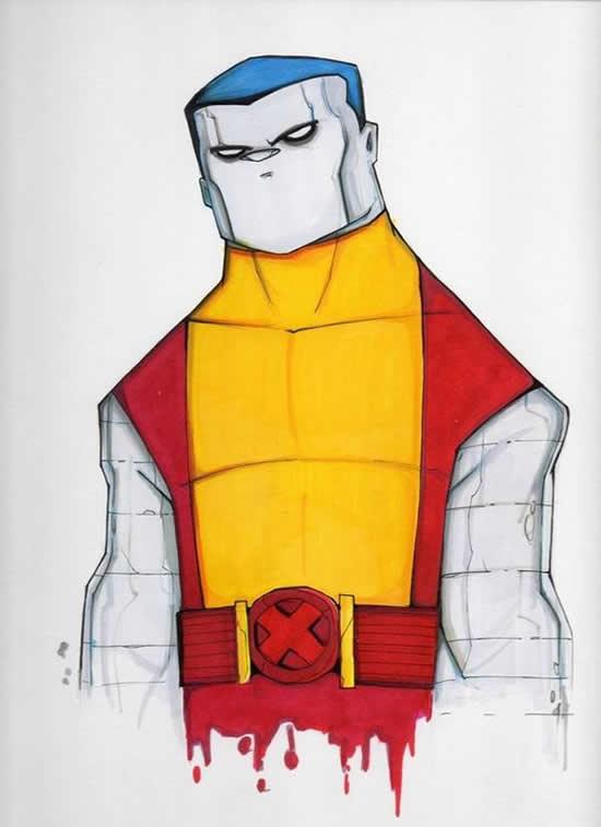 dibujos de superhéroes Extraños (6)