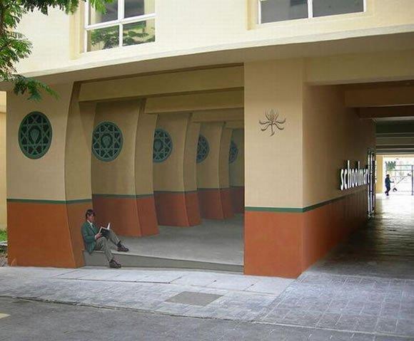 Murales super realistas marcianos - Murales pintados en la pared ...