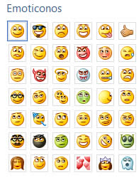 emoticones messenger