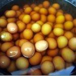Huevos cocidos en orina