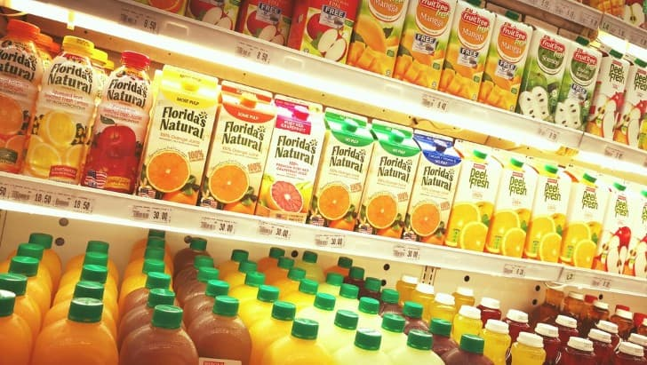 bebidas en un supermercado