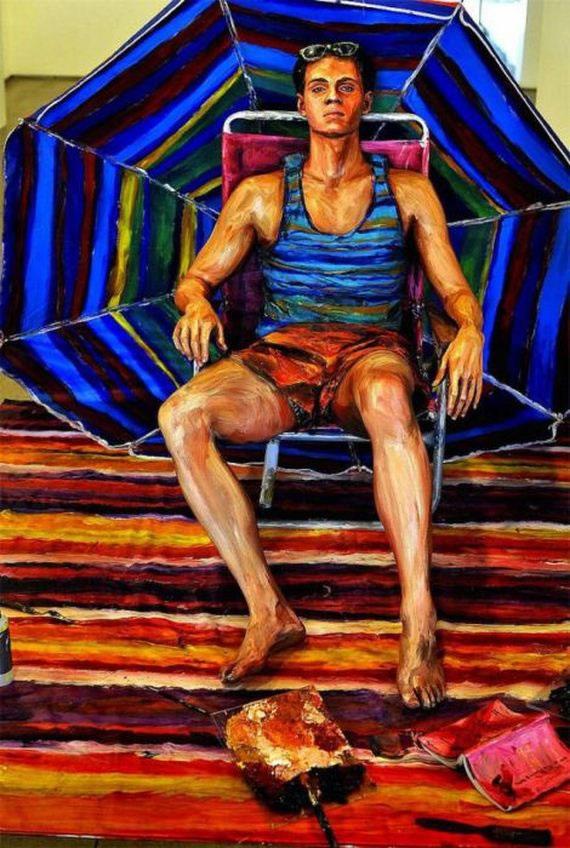 Pinturas realistas de Alexa Meade (9)