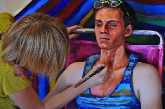 Pinturas realistas de Alexa Meade (7)