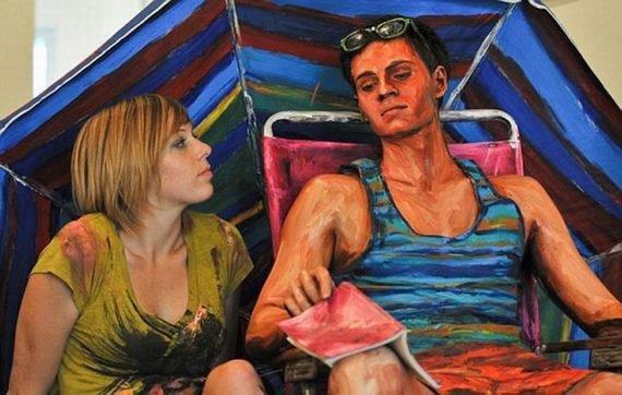 Pinturas realistas de Alexa Meade (1)