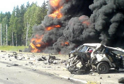 Increíble accidente de BMW en Rusia (6)