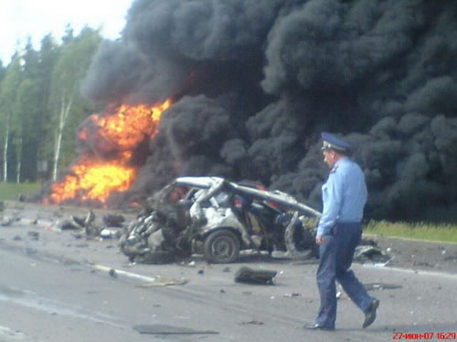 Increíble accidente de BMW en Rusia (5)