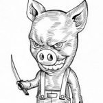 Hombre muere devorado por cerdos