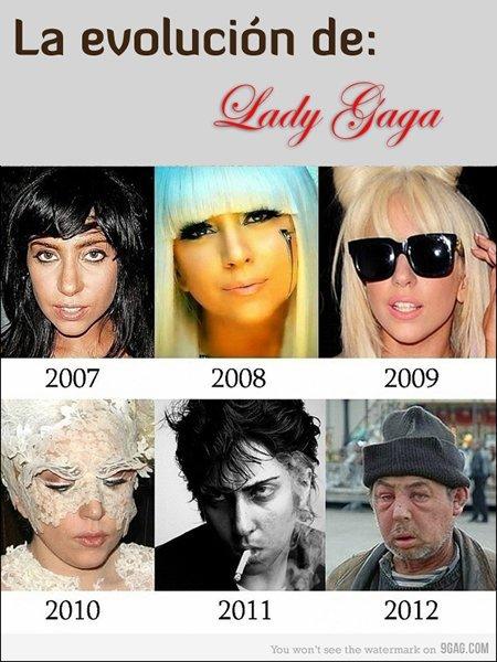 lady gaga evolucion