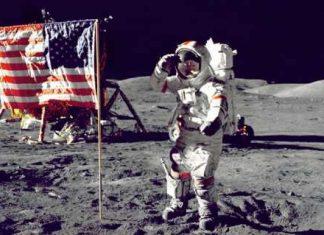 Eugene Cernan en la luna
