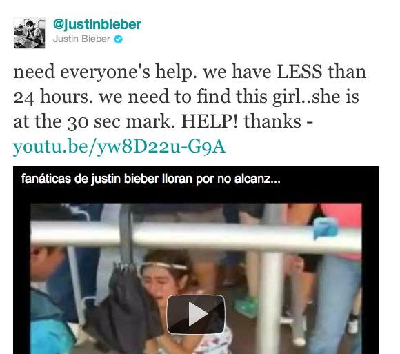 Justin Bieber cumple el sueño de la niña (2)
