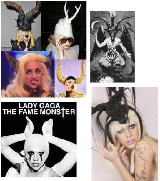 Lady Gaga cuernos