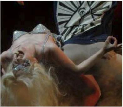 Lady Gaga simbolo satanico