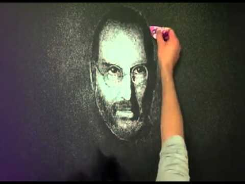 retrato steve jobs sal