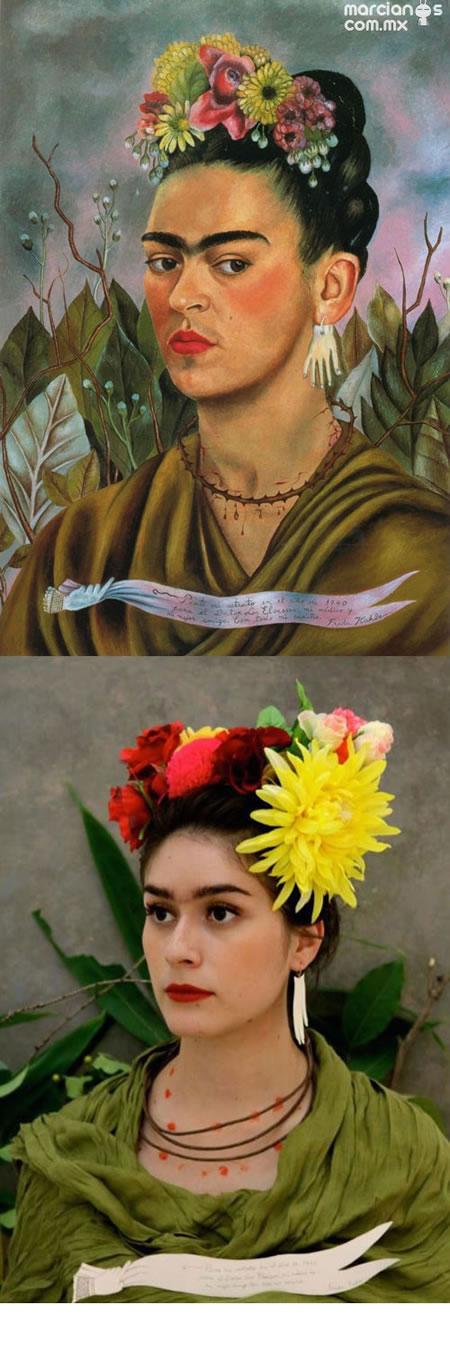 """""""Autorretrado dedicado al Dr. Eloesser"""" - Frida Kahlo"""