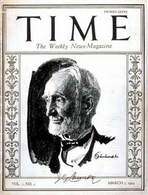La primera portada de las revistas Time