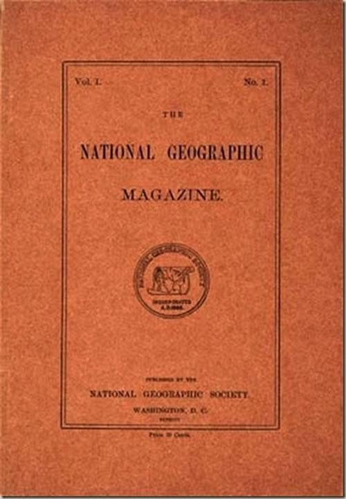 La primera portada de las revistas National Geographic