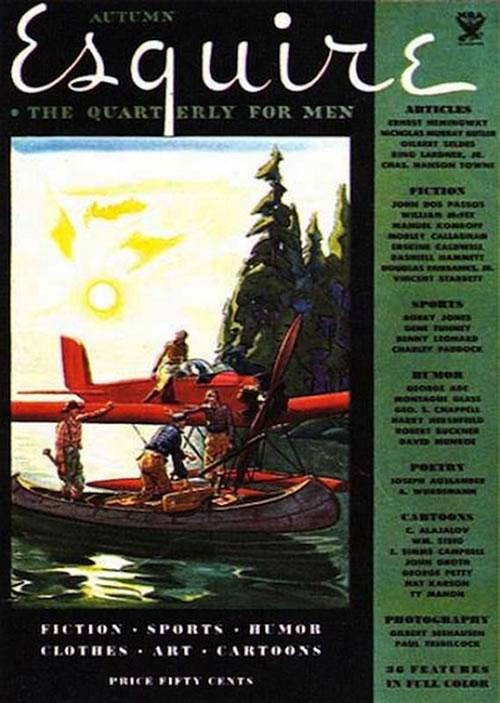 La primera portada de las revistas Esquire