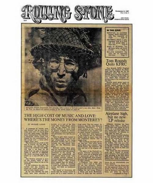 La primera portada de las revistas Rolling Stone