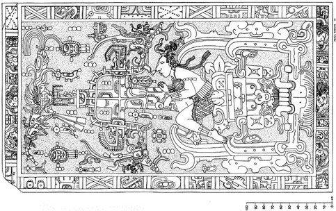 El hombre de Palenque, conocido también como el señor Pakal.