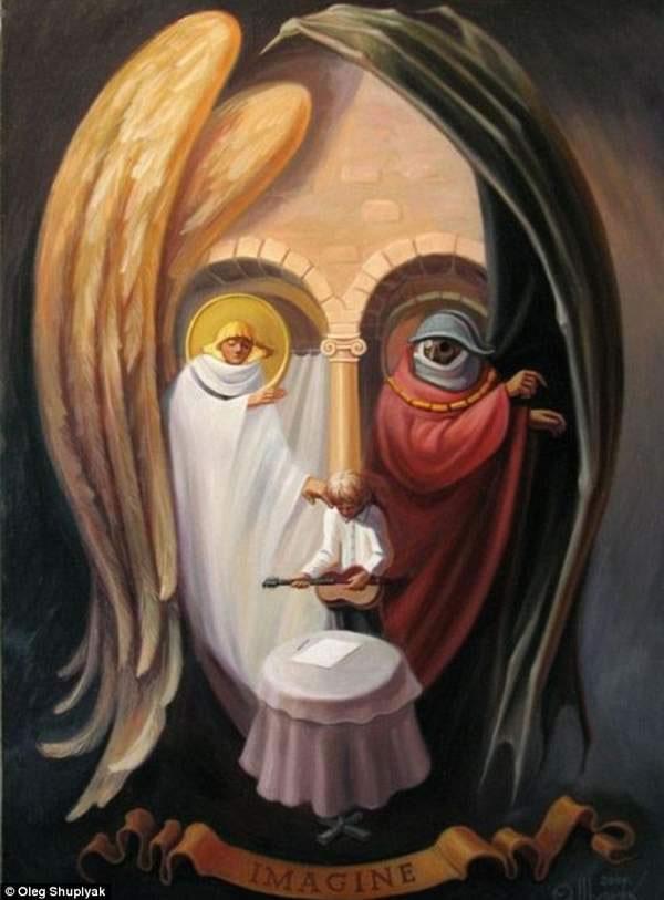 arte que te dejara impresionado: caritas pintadas