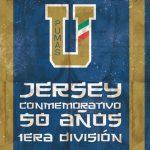 Nuevo jersey Conmemorativo de Pumas, 50 años en 1ra dvisión