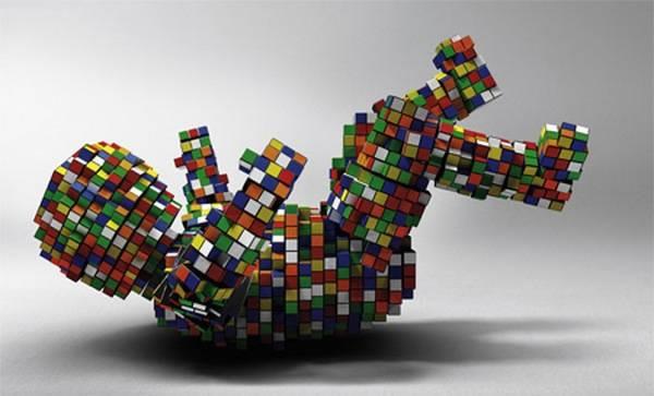 Obras de arte con cubos de Rubik (3)