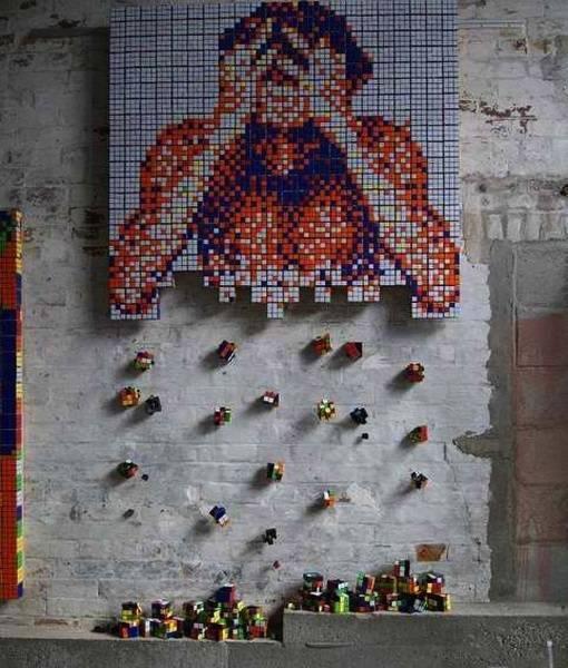 Obras de arte con cubos de Rubik (2)