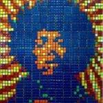 Obras de arte con cubos de Rubik