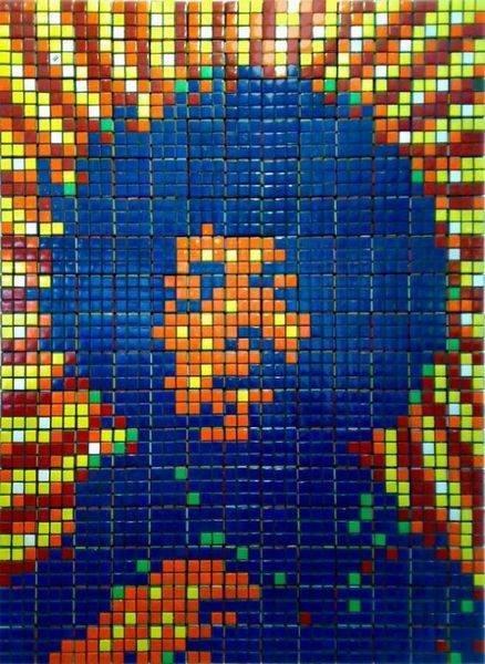 Obras de arte con cubos de Rubik (1)