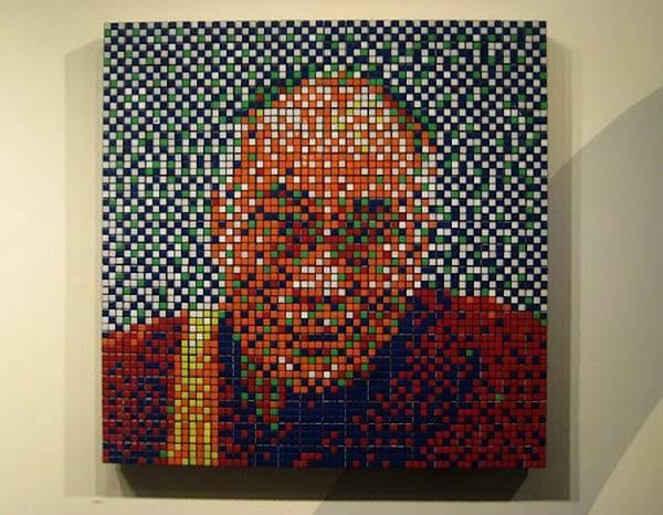 Obras de arte con cubos de Rubik (6)