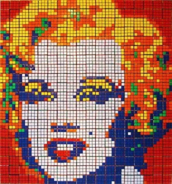 Obras de arte con cubos de Rubik (5)