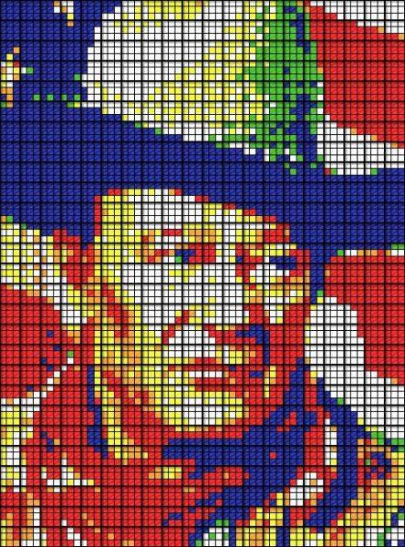 Obras de arte con cubos de Rubik (11)