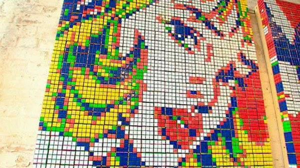 Obras de arte con cubos de Rubik (9)