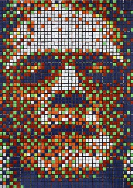 Obras de arte con cubos de Rubik (17)