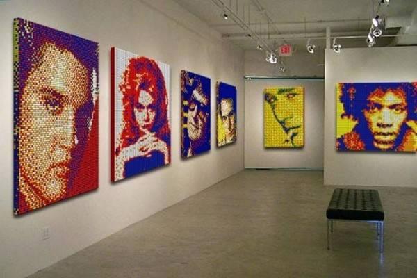 Obras de arte con cubos de Rubik (13)