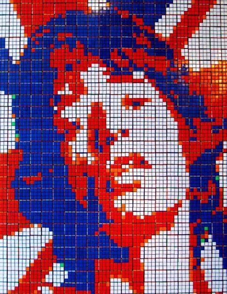 Obras de arte con cubos de Rubik (20)