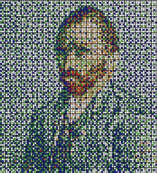 Obras de arte con cubos de Rubik (18)