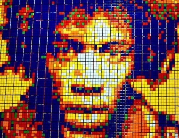 Obras de arte con cubos de Rubik (23)