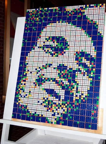 Obras de arte con cubos de Rubik (30)