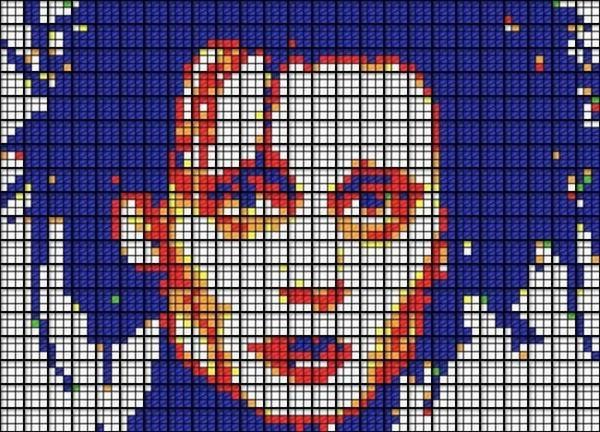 Obras de arte con cubos de Rubik (28)